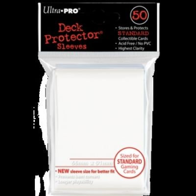 WHITE DECK PROTECTOR 50-CT
