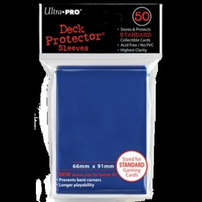 BLUE DECK PROTECTOR 50-CT