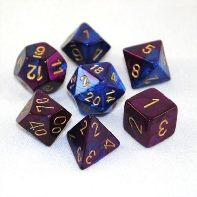 GEMINI BLUE-PURPLE W/GOLD 7-DIE SET