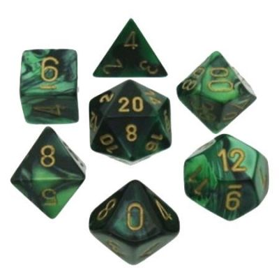 GEMINI BLACK-GREEN 7-DIE SET