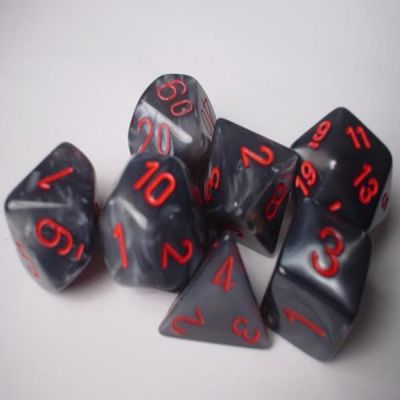 VELVET BLACK/RED 7-DIE SET