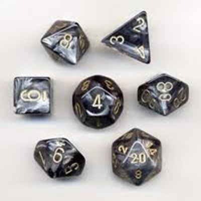 LUSTROUS BLACK/GOLD 7-DIE SET
