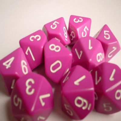 OPAQUE LIGHT PURPLE/WHITE 7-DIE SET