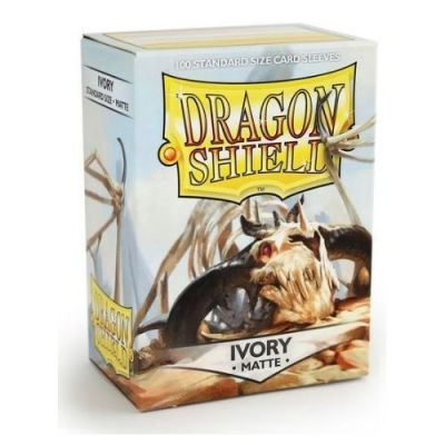 DRAGON SHIELD MATTE IVORY 100-CT