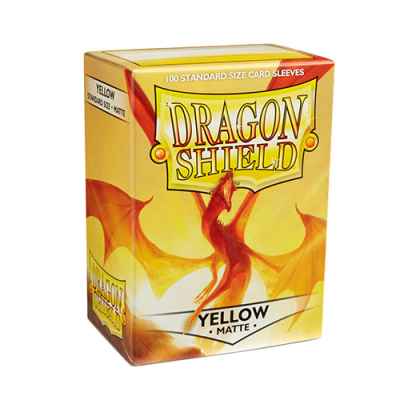 DRAGON SHIELD MATTE YELLOW 100-CT