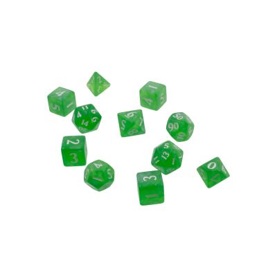 Eclipse 11-Dice Set: Lime Green