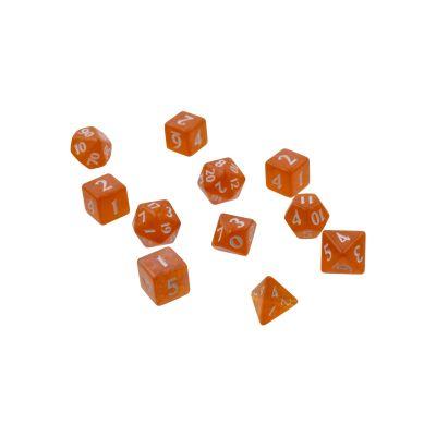 Eclipse 11-Dice Set: Pumpkin Orange