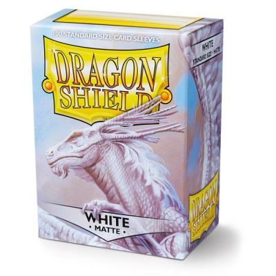 DRAGON SHIELD MATTE WHITE 100-CT