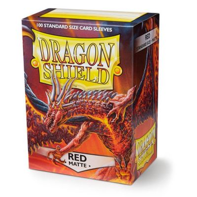 DRAGON SHIELD MATTE RED 100-CT
