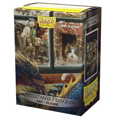 DRAGON SHIELD CHRISTMAS ART SLEEVES 100-CT