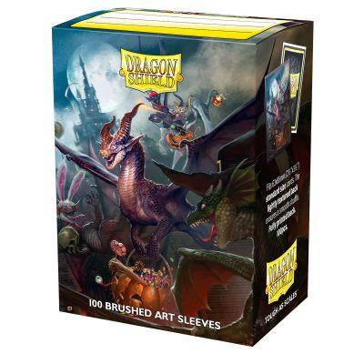 DS Standard Brushed Art Halloween Dragon 2021 Sleeves 100ct