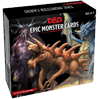 DD5 Monster Cards: Epic Monsters (77 cards)
