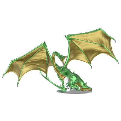 DD5 Icons: Adult Emerald Dragon Premium Figure