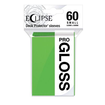 Eclipse Gloss Small Size Lime Green Deck Protector 60ct