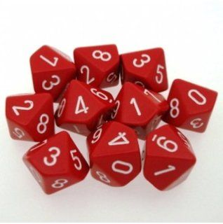 OPAQUE D10 LOOSE DICE