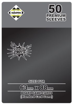 Premium Sleeves Solid Black 63x88mm (Card Game)
