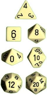 OPAQUE IVORY/BLACK 7-DIE SET