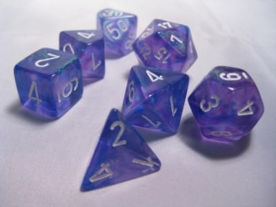 BOREALIS PURPLE/WHITE 7-DIE SET