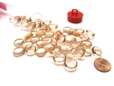 PINK OPAL GLASS STONES(40) 4 TUBE