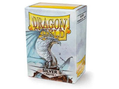 DRAGON SHIELD MATTE SILVER 100-CT