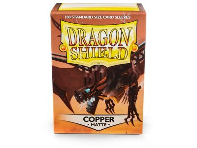 DRAGON SHIELD MATTE COPPER 100-CT