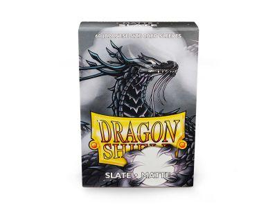 DRAGON SHIELD SLATE SMALL MATTE 60CT