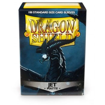 DRAGON SHIELD MATTE JET 100-CT