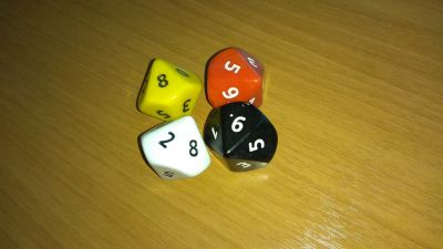 JUMBO OPAQUE D10 LOOSE DICE