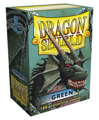 DRAGON SHIELD MATTE GREEN 100-CT