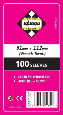 SLEEVES 61X112(FRENCH TARROT)