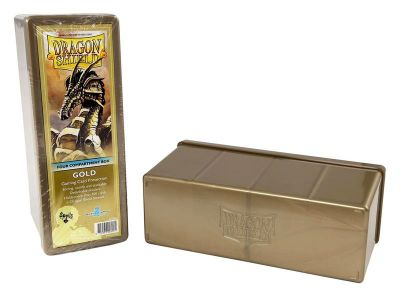 DRAGON SHIELD GOLD 4-COMPARTMENT BOX