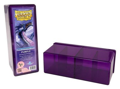DRAGON SHIELD PURPLE 4-COMPARTMENT BOX