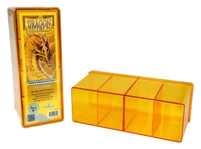 DRAGON SHIELD YELLOW 4-COMPARTMENT BOX