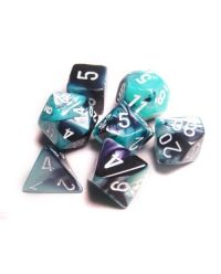 GEMINI BLACK-SHELL W/WHITE 7-DIE SET