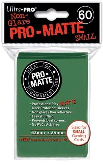 GREEN SMALL PRO ΜΑΤΤΕ DECK PROTECTOR 60-CT