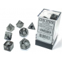Borealis Luminary Light Smoke/Silver Polyhedral 7-Die Set