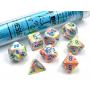 Festive Kaleidoscope/Blue Polyhedral 7-Die Set